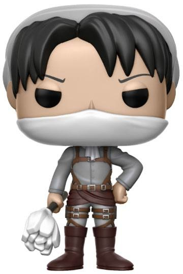 Attack on Titan Figura POP! Animation Vinyl Cleaning Levi 9 cm