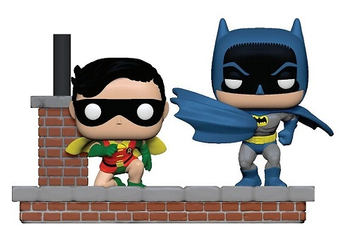 Batman 80th Pack de 2 POP Moment! Vinyl Figuras Look Batman & Robin (1964) 9 cm