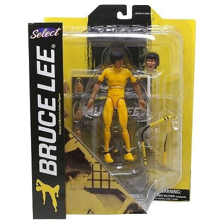 Bruce Lee Select Figura Yellow Jumpsuit 18 cm