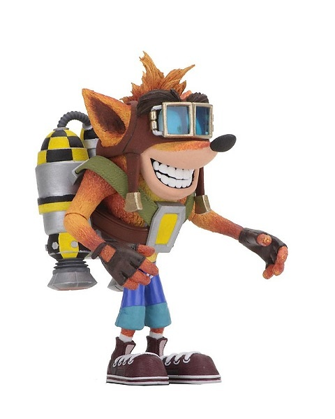 Crash Bandicoot Figura Deluxe Crash with Jetpack 14 cm