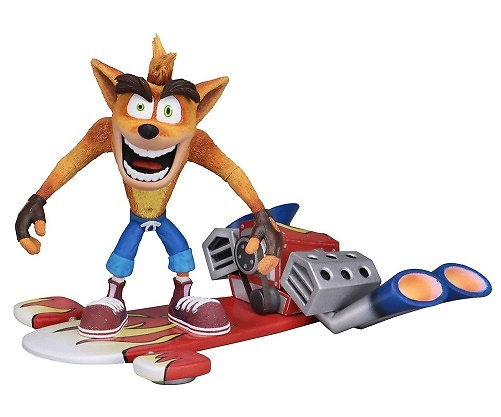Crash Bandicoot Figura Deluxe Hoverboard Crash Bandicoot 14 cm