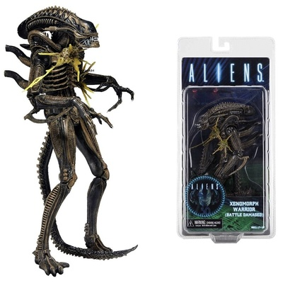 ALIENS SERIE 12 XENOMORPH WARRIOR MARRON BATTLE DAMAGED