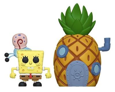 Bob Esponja POP! Town Vinyl Figura SpongeBob & Pineapple 9 cm