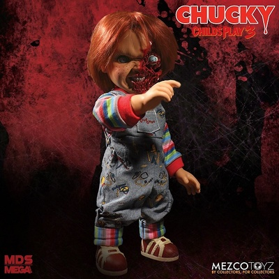CHUCKY CARA PIZZA HABLADOR FIGURA 38 CM CHUCKY TALKING MEGA SCALE CHILDS PLAY 3