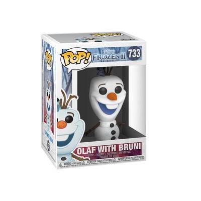 Frozen El Reino del Hielo 2 POP! Disney Vinyl Figura Olaf & Bruni 9 cm