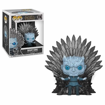 Juego de Tronos POP! Deluxe Vinyl Figura Night King on Iron Throne 15 cm