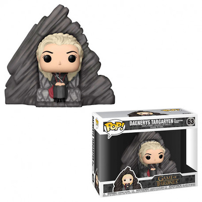 Juego de Tronos POP! Rides Vinyl Figura Daenerys on Dragonstone Throne 15 cm