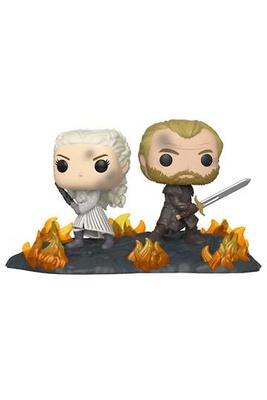 Juego de Tronos Pack de 2 POP Moment! Vinyl Figuras Daenerys & Jorah 9 cm