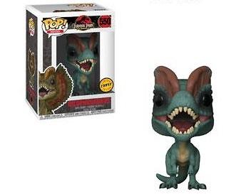 Jurassic Park Figuras POP! Movies Vinyl 9 cm Dilophosaurus CHASE