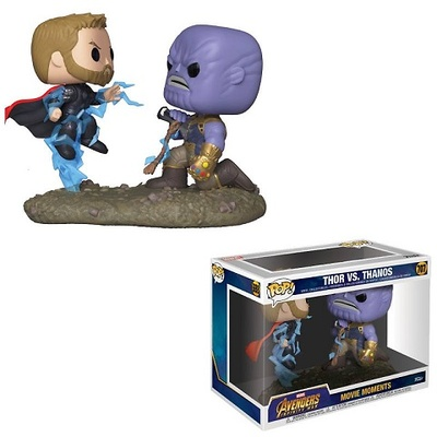 Marvel Pack de 2 POP! Movie Moments Vinyl Figuras Thor & Thanos 9 cm