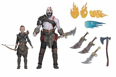 ULTIMATE KRATOS & ATREUS SET 2 FIGURAS 18 CM GOD OF WAR (2018)