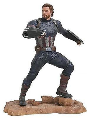 Vengadores Infinity War Marvel Gallery Estatua Captain America 23 cm