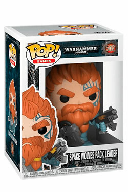 Warhammer 40K Figura POP! Games Vinyl Space Wolves Pack Leader 9 cm